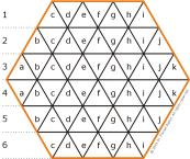 Hexa, 9 pieces board