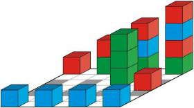 4 Cubes in Line - board version
